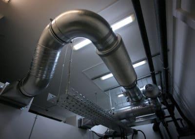 Техническая комната. Воздуховоды.